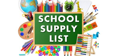 School Supply lists are ready! Click on parent tab and then parent resources
